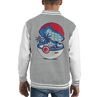 Blue Pokehouse Squirtle Pokemon Kid's Varsity Jacket
