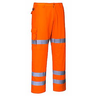 Portwest - Hi-Vis Workwear Rail Track Side Combat Trousers