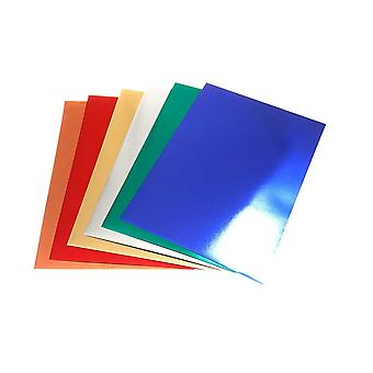 30 Assorted A4 Sheets of Metallic Card for Kids Crafts