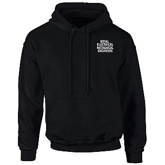 REME Royel elektriska maskiningenjörer Text broderad Logo - officiella brittiska armén Hoodie Huvtröja med dragkedja