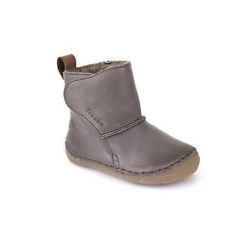 Froddo Grey Leather Wool Lined Boots With Flexible Sole