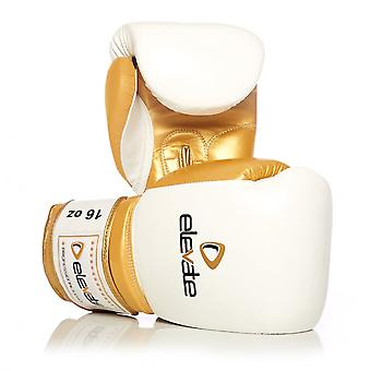 Elevate  2-Tone Leather Boxing Gloves - White & Gold