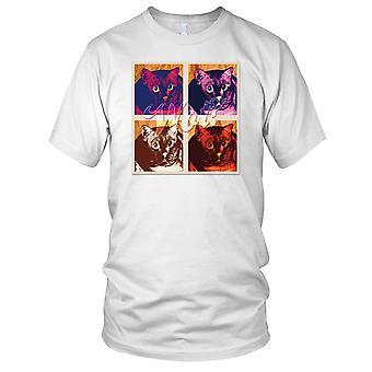 Pop-Art-Katze Wot - Cat Lover Kinder T Shirt