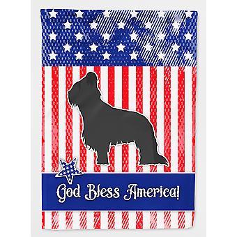 Carolines tesori BB3326CHF USA Briard patriottica bandiera tela dimensione casa