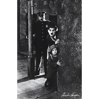 Charlie Chaplin - The Kid Poster Poster Print