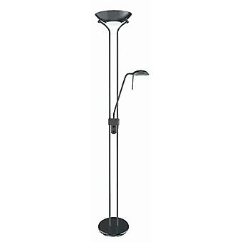 Black Chrome Mother & Child Floor Lamp With Dimmer - Searchlight 4329bc
