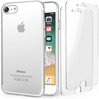 iPhone 8 Tempered Glass Screen Protectors - Twin Pack
