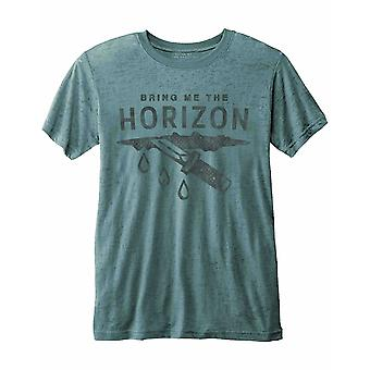 Bring Me The Horizon T Shirt Wound Band Logo Official Mens Blue Burnout slim fit