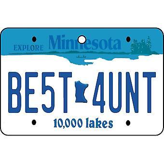 Minnesota - Best Aunt License Plate Car Air Freshener