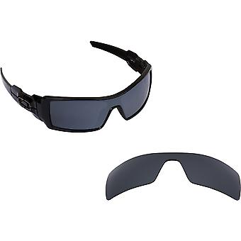 Oil Rig Replacement Lenses Polarized Black Iridium by SEEK fits OAKLEY