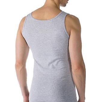 Mey 49100-620 Men's Casual Cotton Grey Solid Colour Tank Vest Top