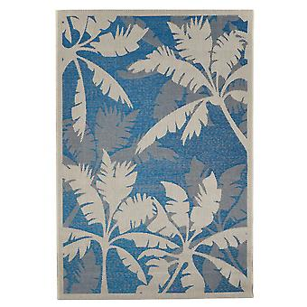 In - and outdoor carpet balcony / living room Palm blue nature 135 x 190 cm