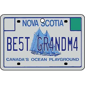 NOVA SCOTIA - bästa mormor licens plattan bil luftfräschare