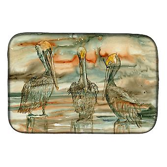 Carolines Treasures  8980DDM Pelicans on their perch Abstract Dish Drying Mat