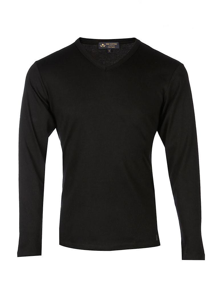 Long Sleeve V Neck - Black