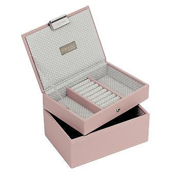 Stackers by LC Designs Soft Pink & Grey Spot Mini Set of 2 Jewellery Trays