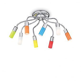 Ideal Lux Ecoflex Retro para niños dormitorio Semi al ras 8 lámpara de techo