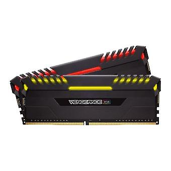 Corsair Vengeance RGB 16GB DDR4, 2666 MHz (PC4-21300), CL16, XMP 2.0, Kit (2 x 8GB), DIMM-Speicher