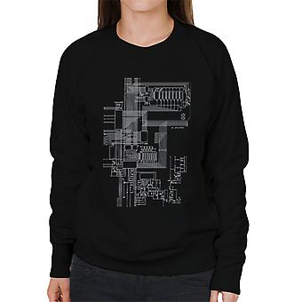 ZX Spectrum Computer Schematic Women's Sweatshirt