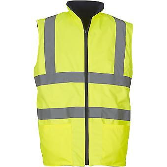 Yoko Mens High Vis Reversible Waterproof Fleece Bodywarmer