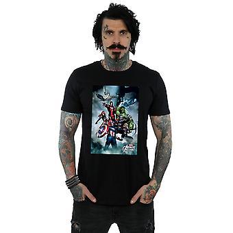 Marvel Men's Avengers Team Montage T-Shirt