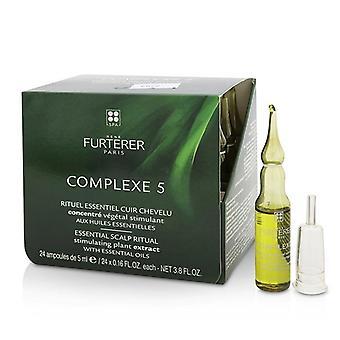Rene Furterer Complexe 5 æteriske hovedbund rituelle stimulerende planteekstrakt med æteriske olier - 24x5ml/0,16 oz