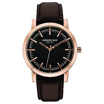 Kenneth Cole New York men's wrist watch analog quartz leather 10030809
