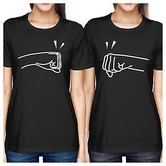 I pugni libbra BFF nero corrispondenza camicie per giovani ragazze regali unici
