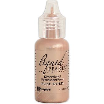 Liquid Pearls Dimensional Pearlescent Paint .5oz-Rose Gold