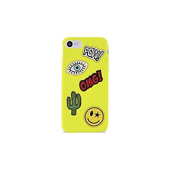 PURO iPhone 8/7, Patch Mania Cover, 5 Patches, green