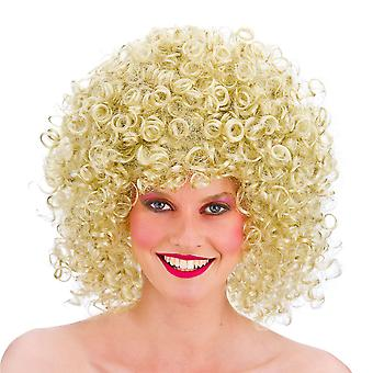 Wicked 80's Disco Perm Blonde Curly Wig Fancy Dress Costume Party