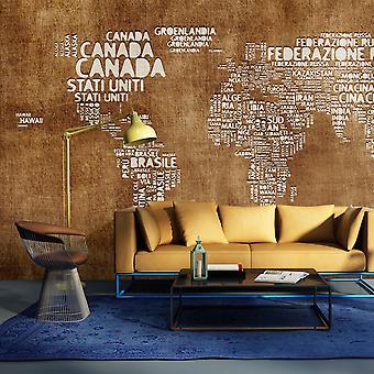 Behang - antieke Italiaanse kaart