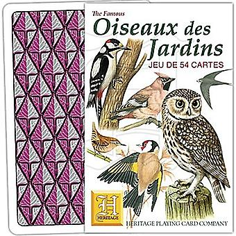 Oiseaux Des Jardins (fransksprogede) sæt af 52 spillekort (+ jokere)