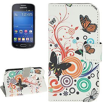 Telefon komórkowy case etui dla mobilnych Samsung Galaxy trend Lite kolorowe motyle