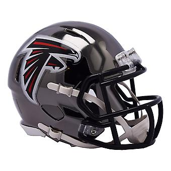 Riddell mini fotball hjelm - NFL Atlanta Falcons CHROME