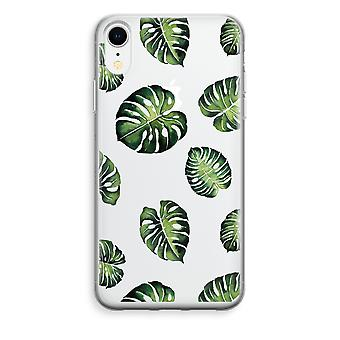 iPhone XR Transparant Case - Tropical leaves