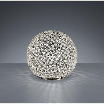 Trio Lighting Mosaique Modern Chrome Crackle Metal Dome Table Lamp