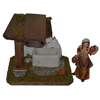 Nativity accessories stable Nativity set FOUNTAIN crib accessories with Shepherdess