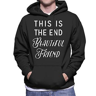 The End Song Lyric Men's Hooded Sweatshirt