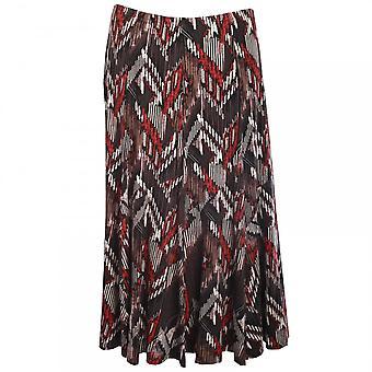 Hudson & Onslow Aztez Print Long Jersey Skirt