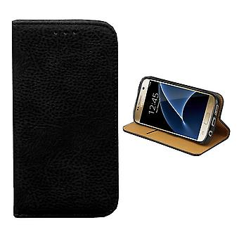 Colorfone Samsung Galaxy S6 borde cartera bolsa (negro)