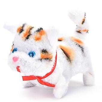 ZTOYL Electronic Pet Sound Control Robot Cats Stand Walk Pets Fun Interactive Cat Electric Electronic Plush Baby Toys For Kids