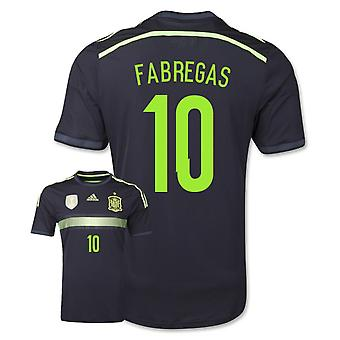 2014-15 Spanje Away WK-shirt (Fabregas 10)