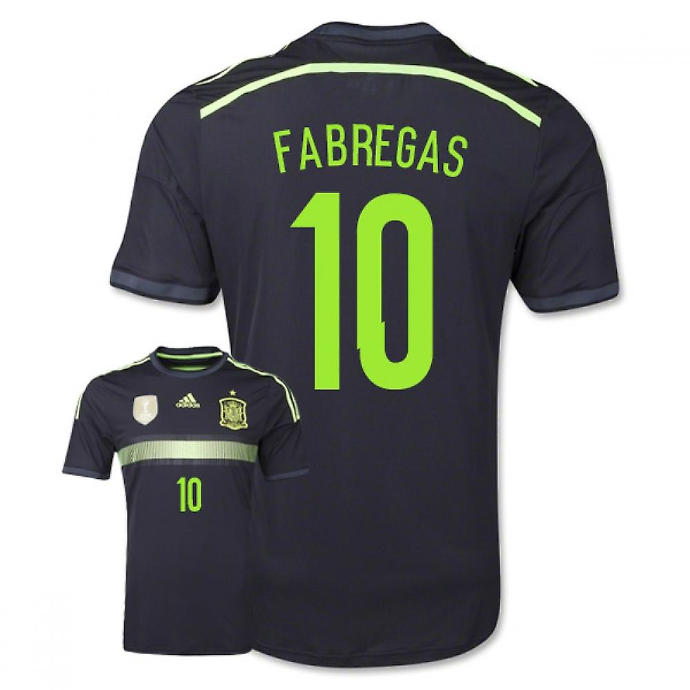 2014-15 Spain Away World Cup Shirt (Fabregas 10)