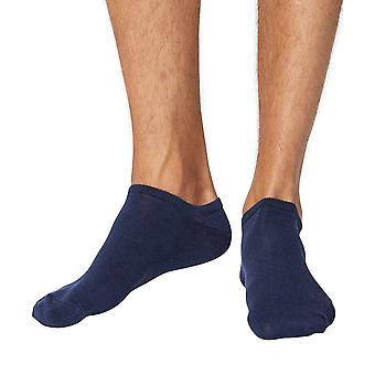 Ashley men's soft bamboo anklet (trainer) socks in navy | By Thought