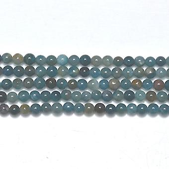 Strand 95 + Teal Blue Apatite 4mm Plain runda pärlor GS19436-1