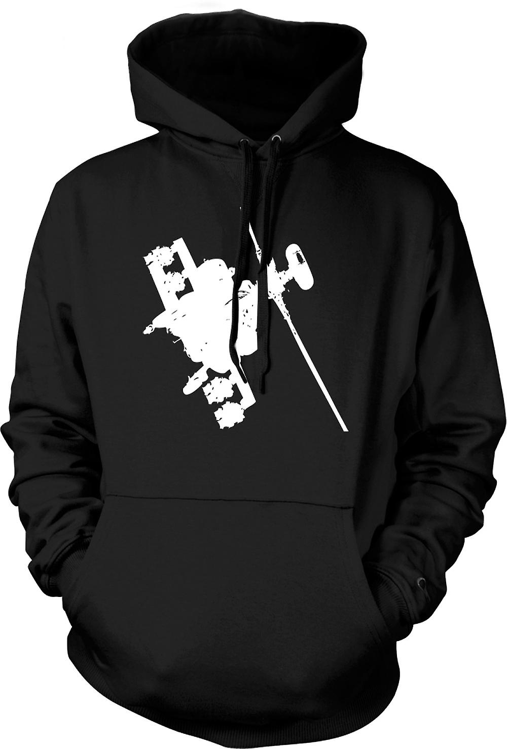 Mens Hoodie - Apache Helicopter Flying - War