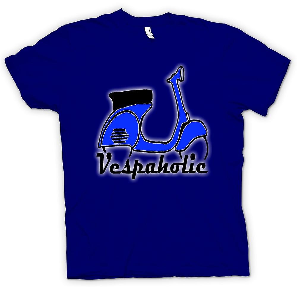 Mens T-shirt - Vespa Vespaholic - Funny Scooter