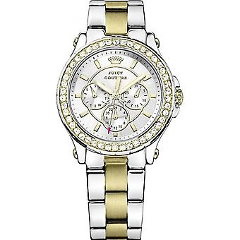 Juicy Couture 1901066 Women's Pedigree Multi Function Stone Set Two Tone Watch