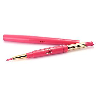 Saffron Duo Lipstick And Twist Up Lip Liner ~ 02 Fuscia